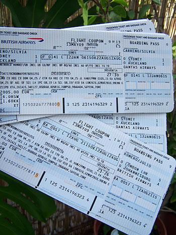 Billetes aéreos