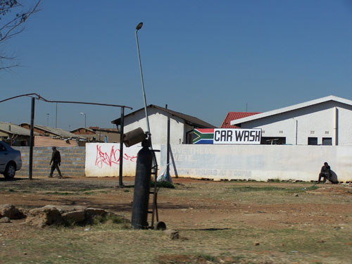 'Car wash' en Soweto