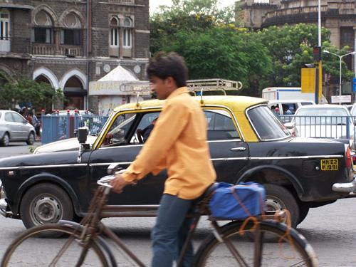 Una calle de Mumbai