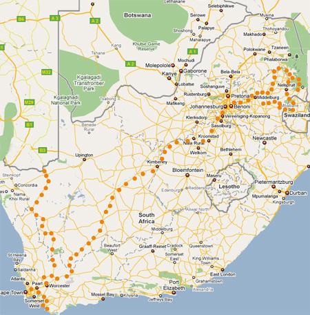 Ruta del Pixel en Suráfrica