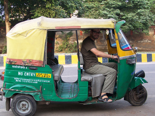 Julio, conductor de rickshaw