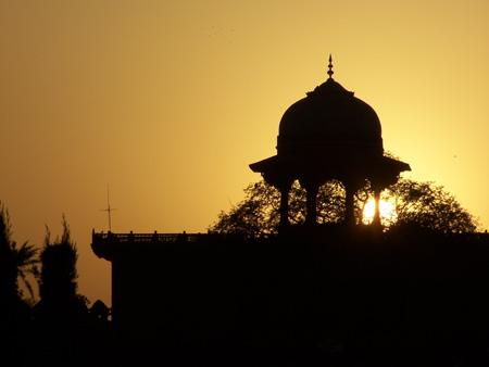 Atrardecer en el Taj Mahal