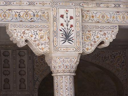 Decoracion del Fuerte de Agra