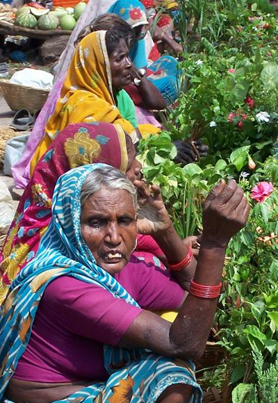 Mercado de flores en Varanasi