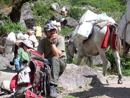 Atasco de caravanas de mulas