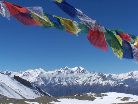 Banderas de oracion tibetanas