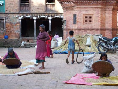 Vida cotidiana en Bhaktapur