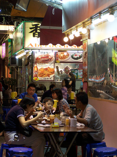 Cena al fresco en Temple Market