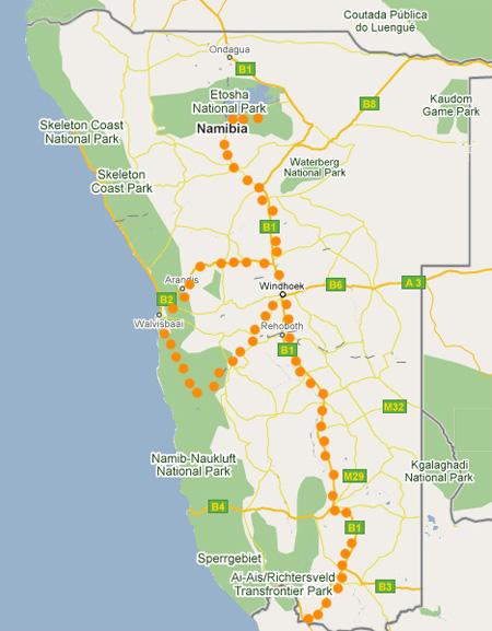 Ruta del Pixel por Namibia
