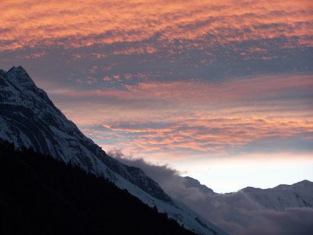 Atardecer en el Himalaya