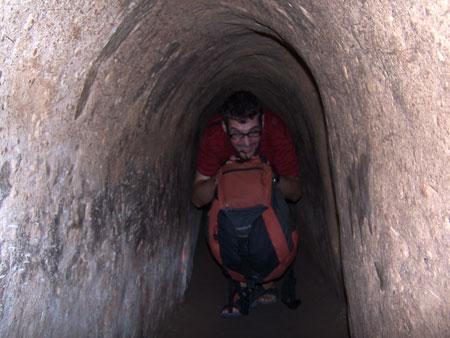 Julio por los túneles agrandados