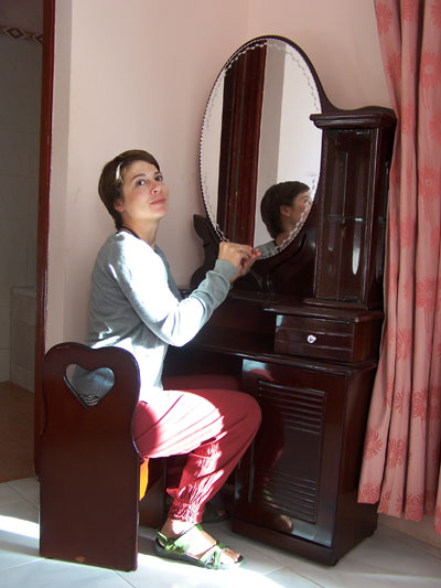 El tocador 'romantico' en Dalat