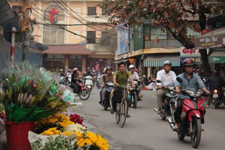 Motoristas en Hanoi