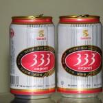 Cerveza vietnamita en terraza
