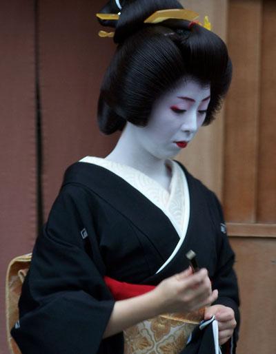 Geisha tradicional en Kyoto
