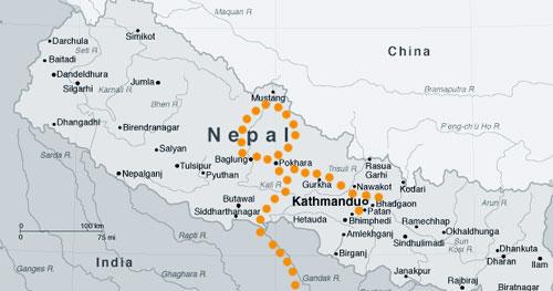 Ruta por Nepal
