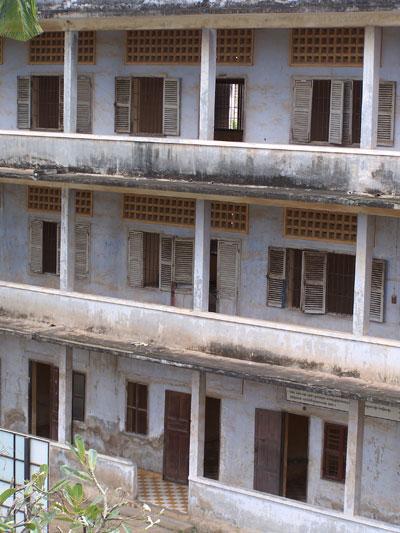 Instituto convertido en cárcel