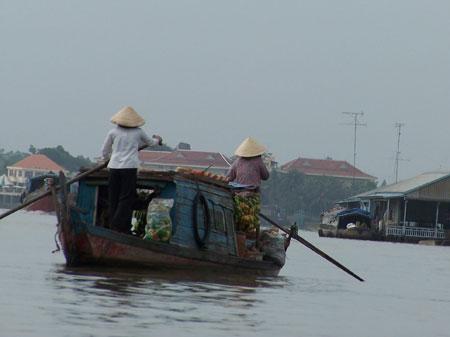 Primera hora de la mañana en el Mekong