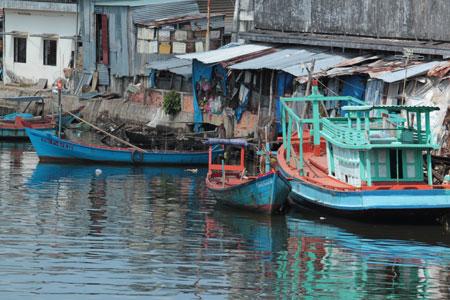 Puerto de pescadores en Duong Dong