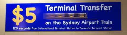 Anuncio del 'ofertón' del billete entre terminales aéreas en Sydney