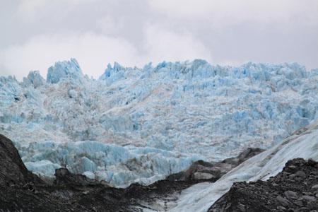 Cima del glaciar Franz Josef