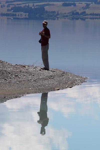 Reflejos en el Lago Pukaki