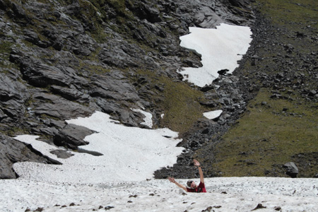 Típico hombre de las nieves de Nueva Zelanda