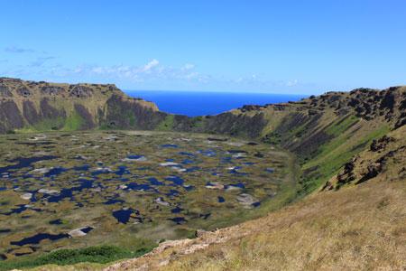 Cráter del volcán Rano Kau