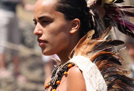 Candidata a reina en Rapa Nui