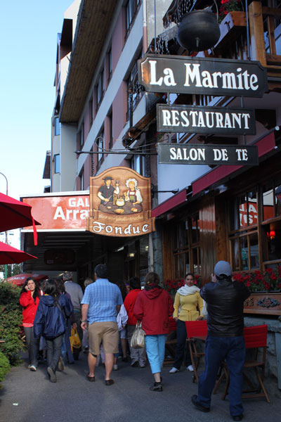Calle principal de Bariloche