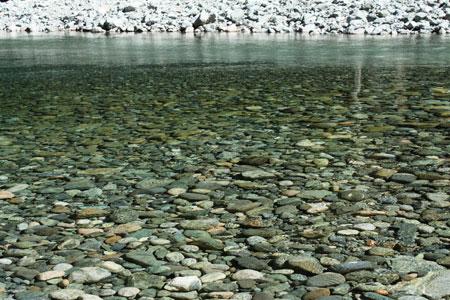 Aguas cristalinas del río Azul
