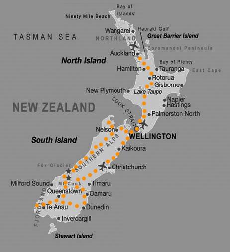 Ruta en Nueva Zelanda