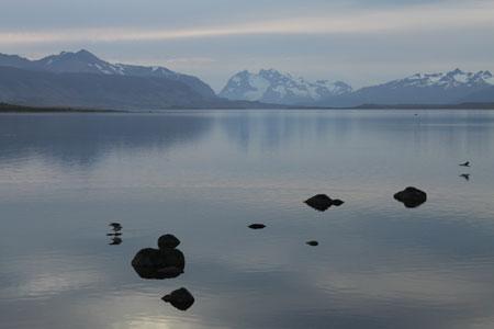 Los últimos rayos de sol en Patagonia
