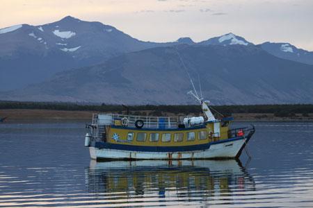 Barcos sobre el Pacífico
