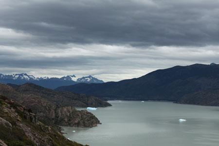 Fragmentos del glaciar Grey