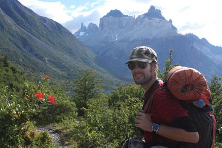 Con la 'casa' a cuestas en Torres del Paine