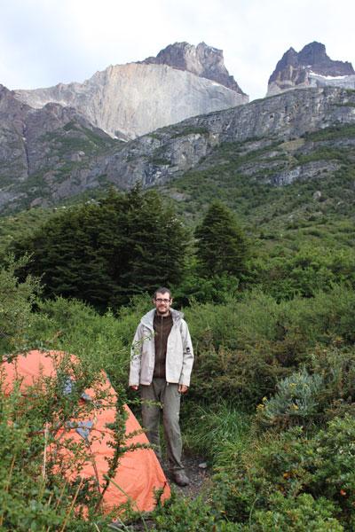 En el campamentos Cuernos del Paine