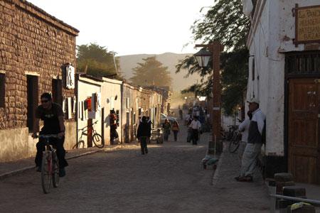Una calle de San Pedro de Atacama