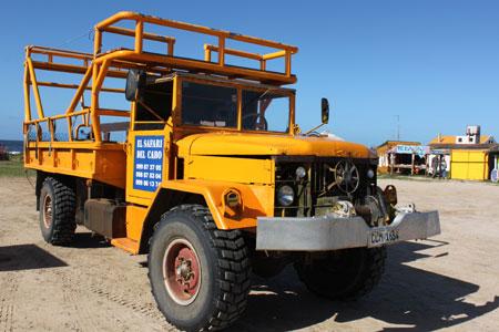Camión para llegar a Cabo Polonio