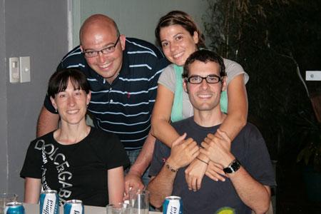 De cena improvisada con Arancha y Jorge @http://viajeargentina10.blogspot.com