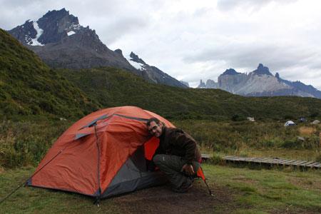 Acampando en Torres del Paine