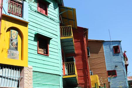 Casas de colores en La Boca