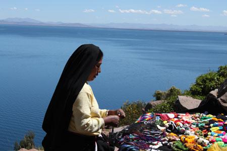 Taquile con vistas al Titicaca