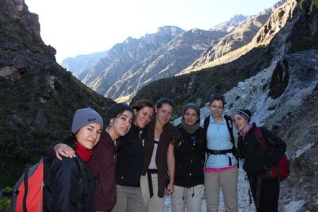 Equipo femenino en el 3er día (Julio hacía la foto)