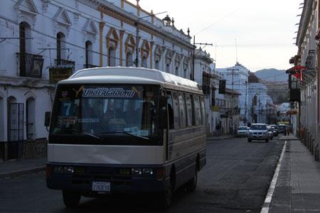 Autobuses koreanos en Sucre
