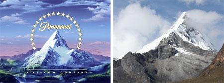 El logo de la Paramount y el Artesonraju ¿es el mismo?