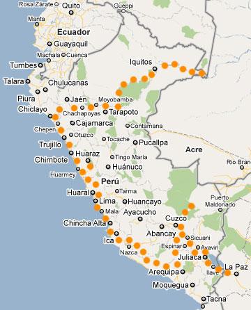 Ruta por Perú
