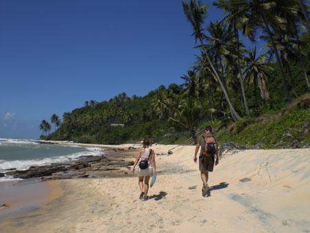 Caminata por las playas