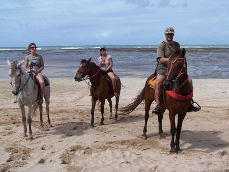 Paseo en caballo por la isla