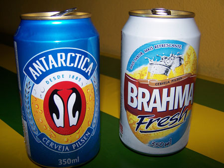 Cerveza Brahma y Antarctica